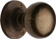 M Marcus Solid Bronze Rustic RBL4975 Alveley Mortice Knob On Rose Real Bronze
